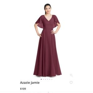 Azazie Jamie Cabernet Bridesmaid Dress